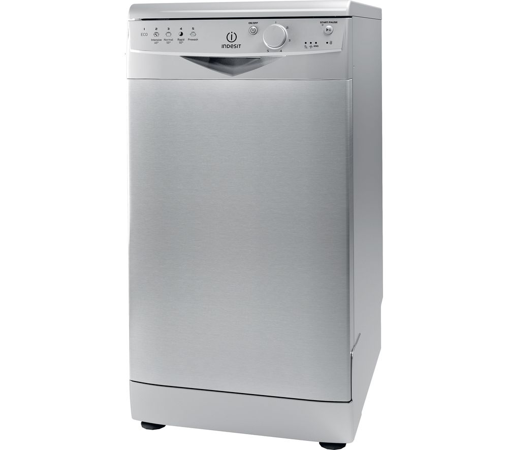 INDESIT DSR15BS Slimline Dishwasher - Silver