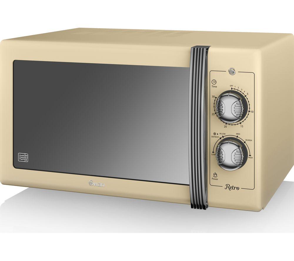Buy Swan Retro Sm22070cn Solo Microwave Cream Free