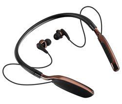 GOJI GTCNBBT17 Wireless Bluetooth Headphones - Black & Brown