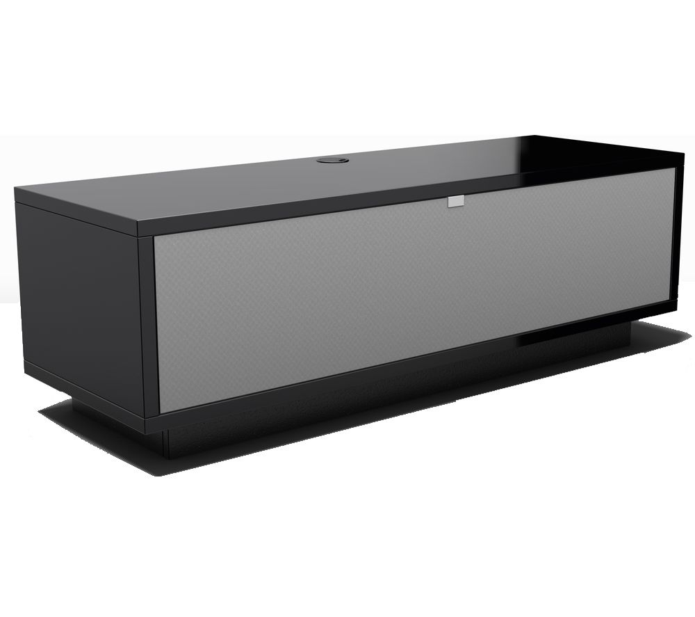 Schnepel Varic 2.0 Sound Tv Stand - Gloss Black & Silver, Black.