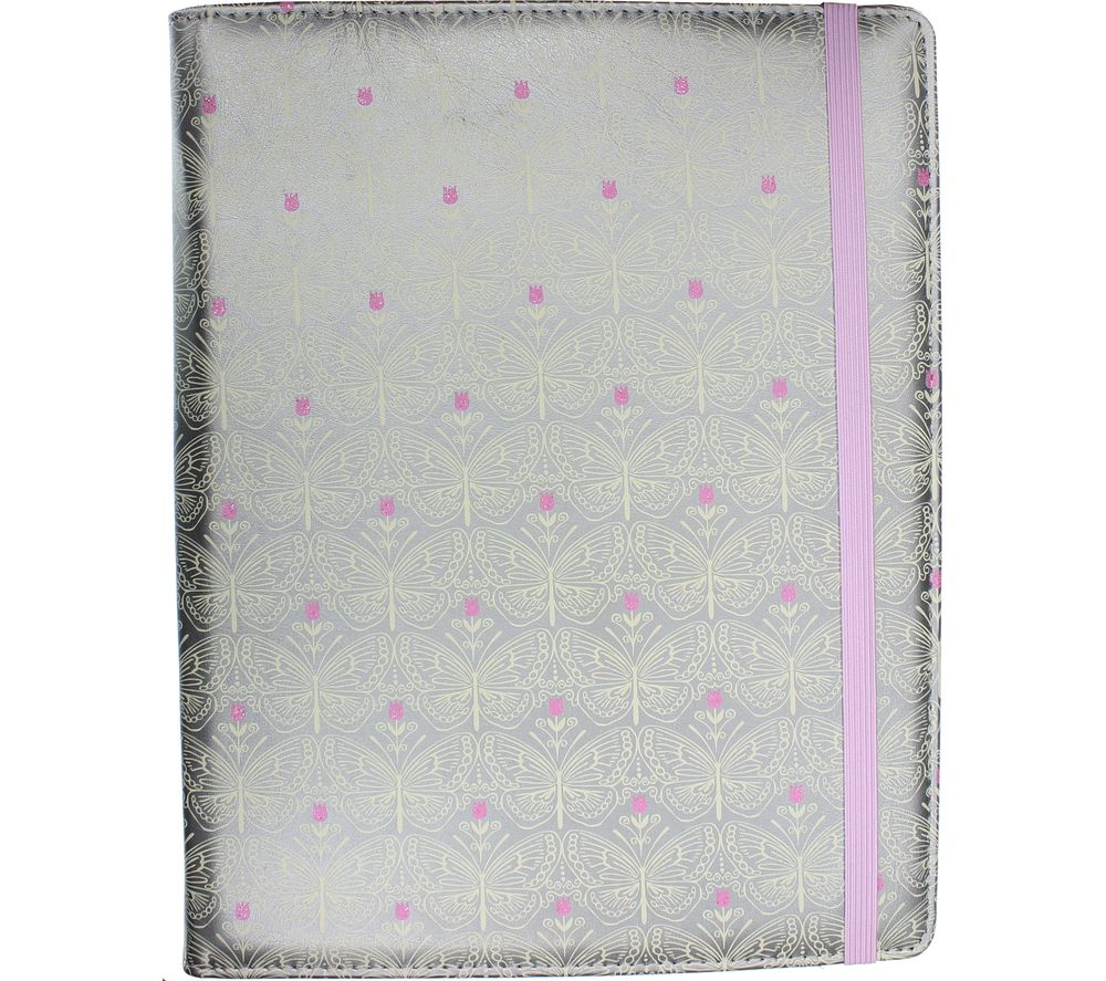 """Image of ACCESSORIZE Bee Geo 10"""" Tablet Case, Silver"""