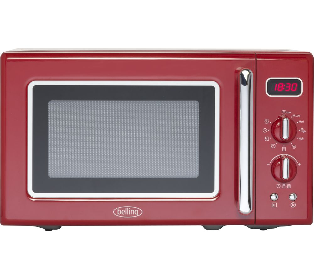 Buy Belling Retro Fmr2080s Solo Microwave Red Free