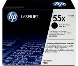 HP 55X High Yield Original LaserJet Black Toner Cartridge
