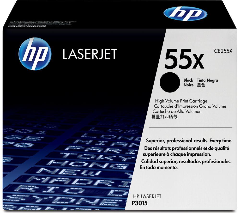 HP 55X High Yield Original LaserJet Black Toner Cartridge
