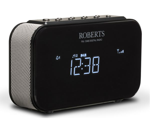 buy roberts ortus1 dab fm clock radio black free delivery currys. Black Bedroom Furniture Sets. Home Design Ideas