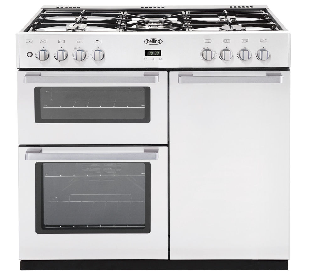 Dual Fuel Oven ~ Belling db dft dual fuel range cooker white
