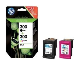 HP 300 Tri-colour & Black Ink Cartridges - Multipack