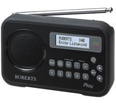 ROBERTS Play Portable DAB+ Radio - Black