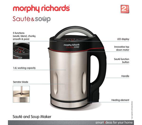 buy morphy richards 501011 soup maker stainless steel. Black Bedroom Furniture Sets. Home Design Ideas
