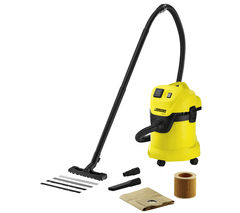 KARCHER MV3 P Wet & Dry Cylinder Vacuum Cleaner - Black & Yellow