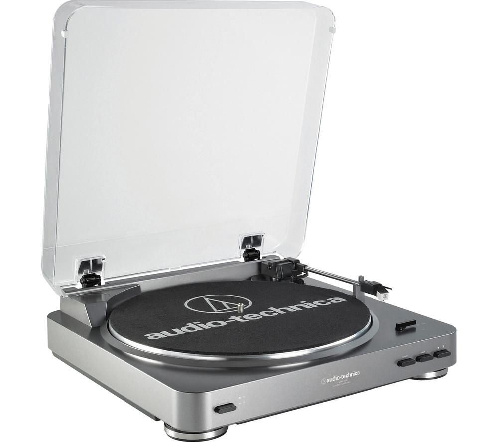Click to view more of AUDIO TECHNICA  AT-LP60USB Stereo Turntable, Silver