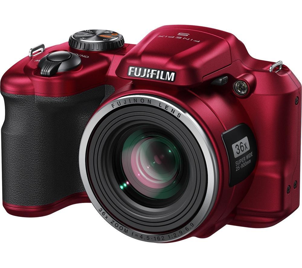 FUJIFILM FinePix S8650 Bridge Camera Red Deals PC World
