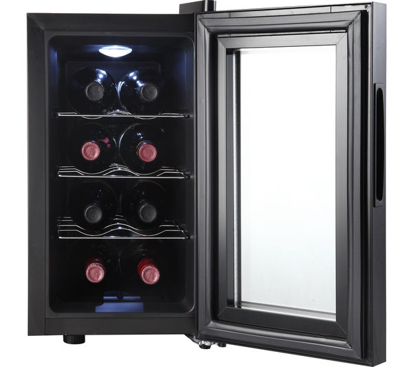 Buy Essentials Cwc8b15 Wine Cooler Black Free Delivery
