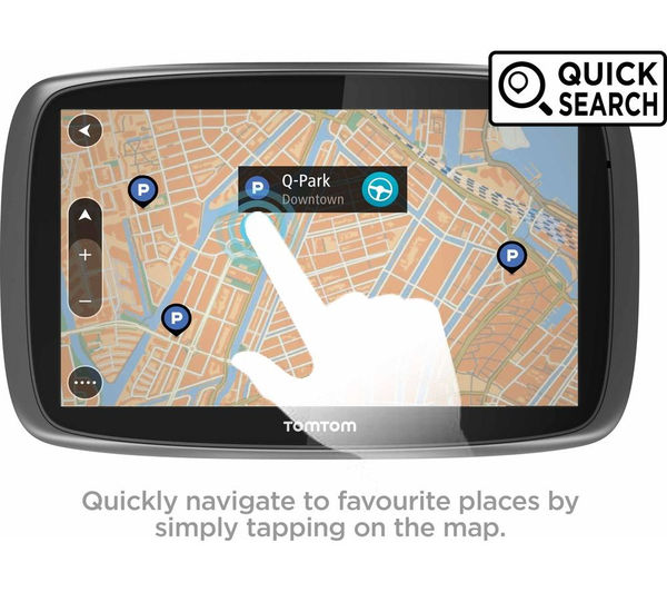buy tomtom go traffic 6100 6 sat nav with worldwide maps free delivery currys. Black Bedroom Furniture Sets. Home Design Ideas
