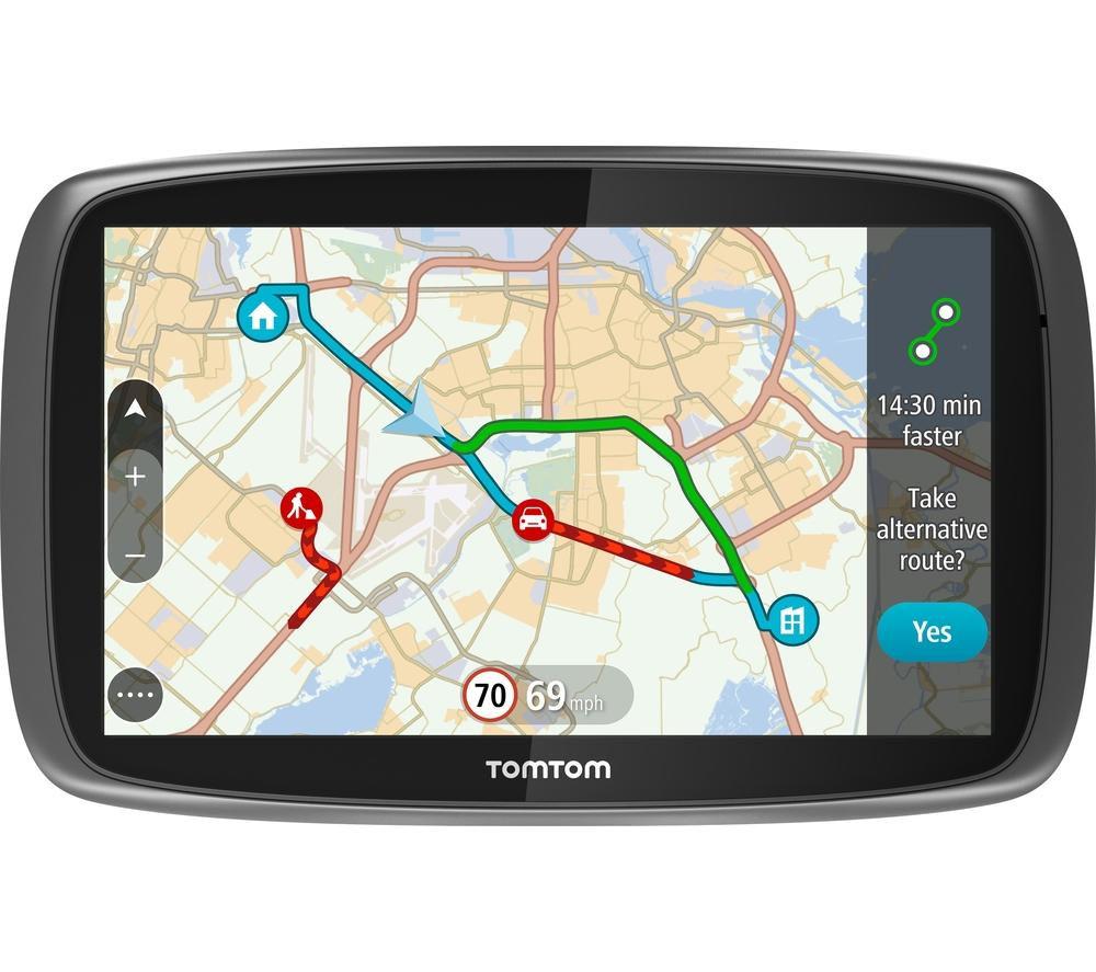 "TOMTOM GO Traffic 6100 6"" Sat Nav - with Worldwide Maps"