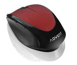 ADVENT AMWLRD15 Wireless Optical Mouse - Red