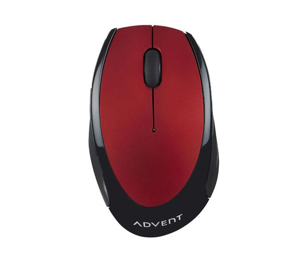 Image of ADVENT AMWLRD15 Wireless Optical Mouse - Red