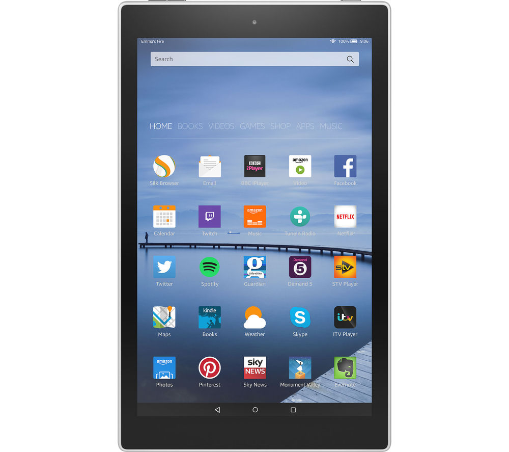 "Image of Amazon Fire HD 10.1"" Tablet - 16 GB, White, White"