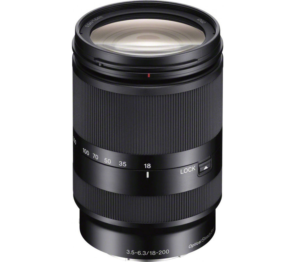 SONY E 18–200 mm f/3.5–6.3 OSS LE Telephoto Zoom Lens