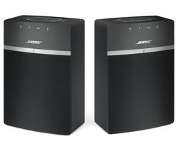 BOSE SoundTouch 10 Wireless Smart Sound Multi-Room Speakers - Set of 2, Black