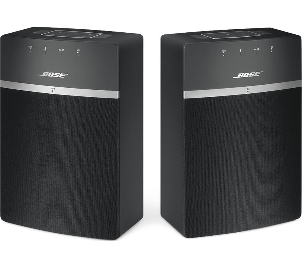 Click to view more of BOSE  SoundTouch 10 Wireless Smart Sound Multi-Room Speakers - Set of 2, Black, Black