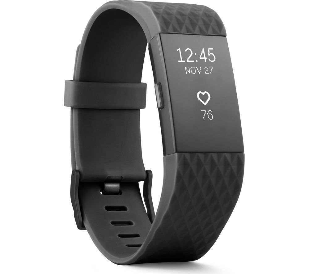 FITBIT Charge 2 - Gunmetal, Large