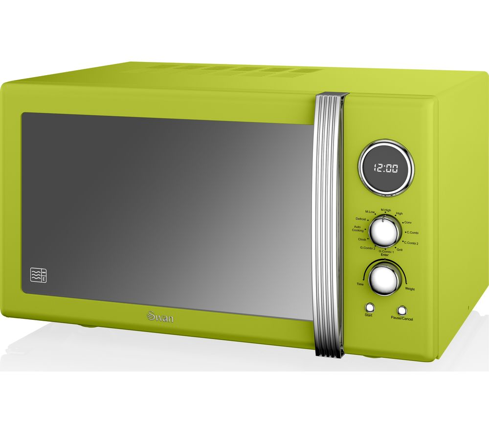 Buy Swan Sm22080cn Retro Microwave With Grill Lime