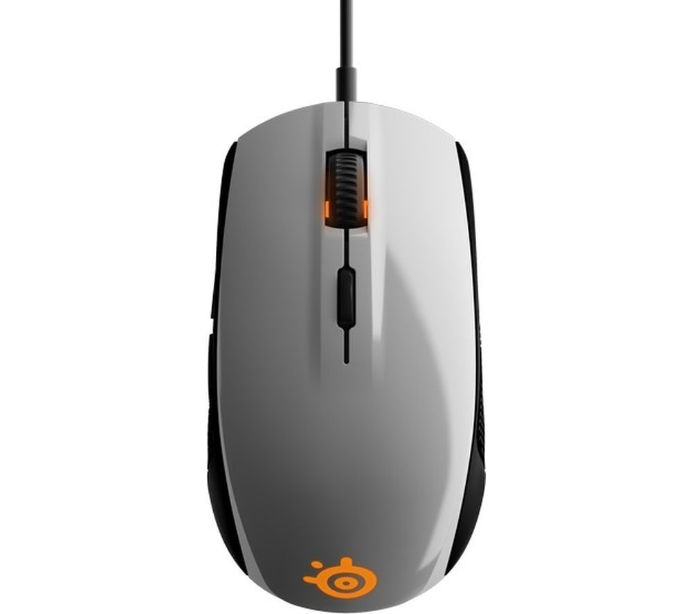 steelseries rival 100 optical gaming mouse white deals. Black Bedroom Furniture Sets. Home Design Ideas