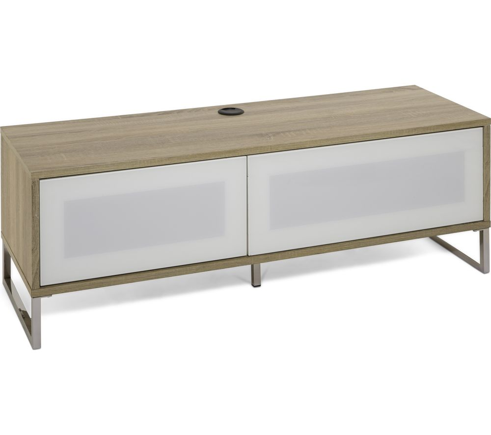 Alphason  Helium Tv Stand - White & Light Oak, White