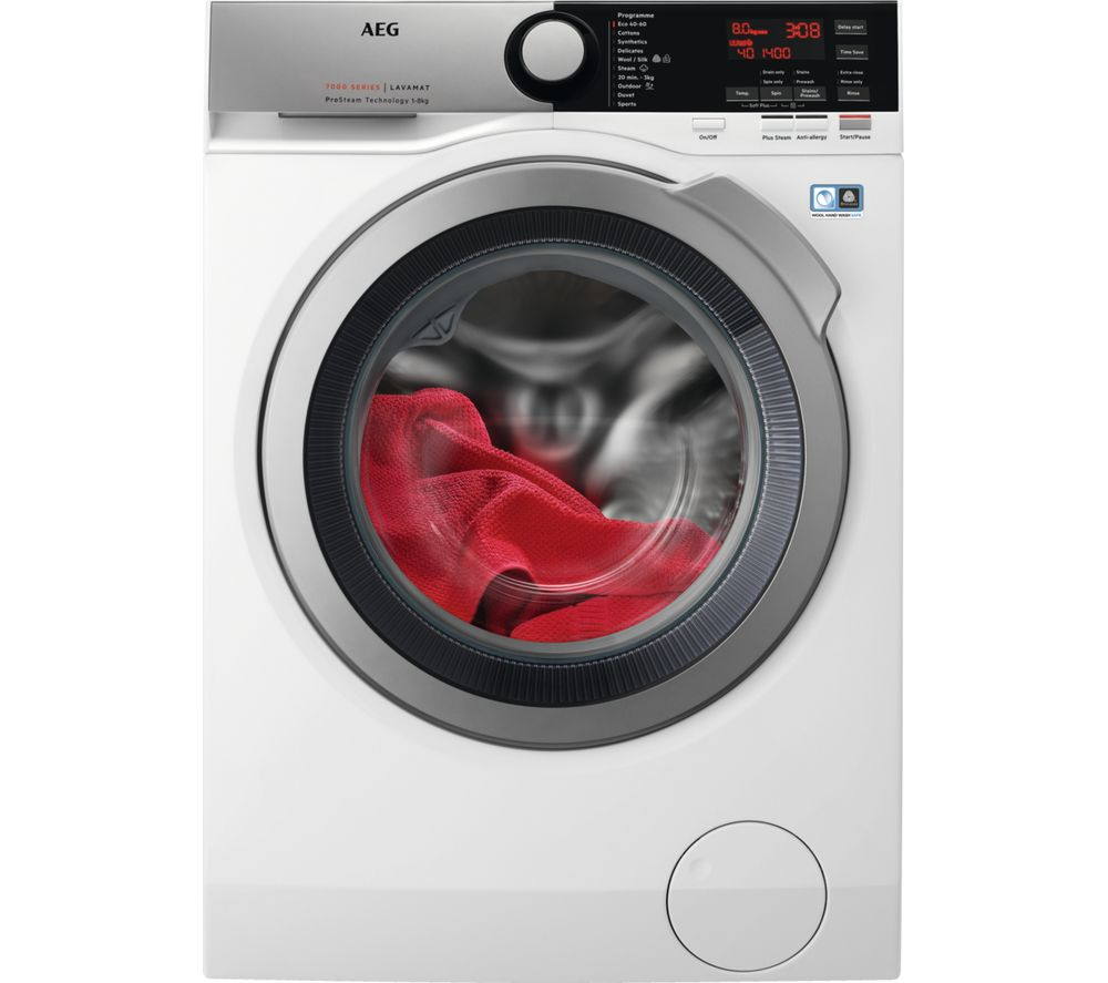 AEG ProSteam L7FEE845R Washing Machine  White White
