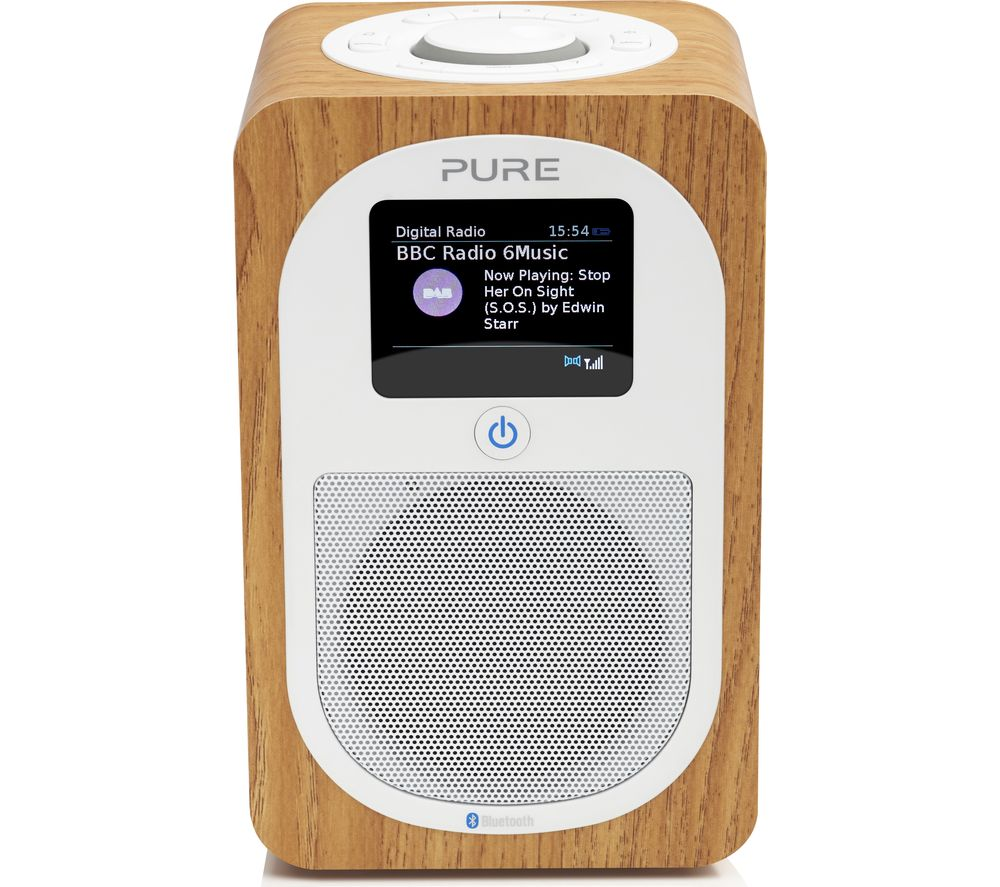 PURE Evoke H3 Portable DAB/FM Bluetooth Clock Radio - Oak