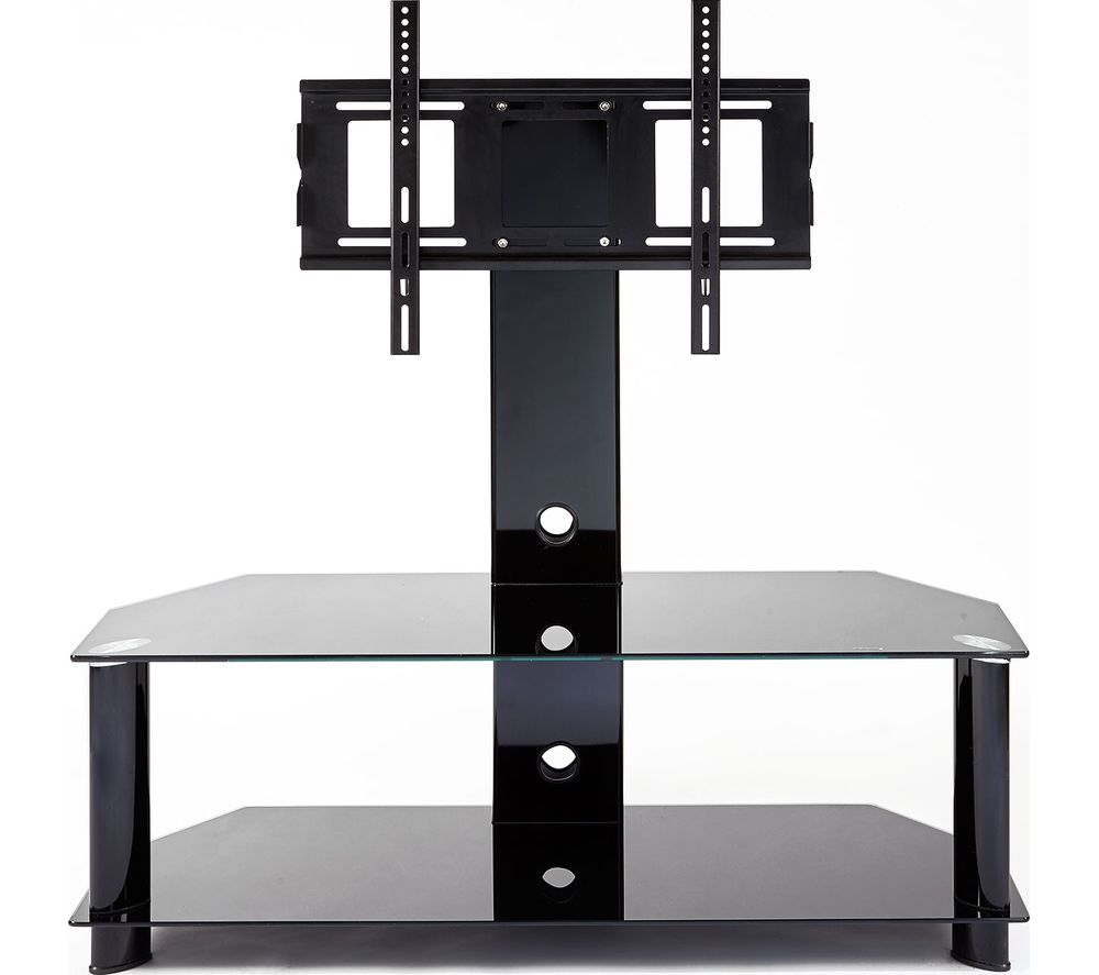 MMT RIO CB110/2 TV Stand with Bracket - Black Glass