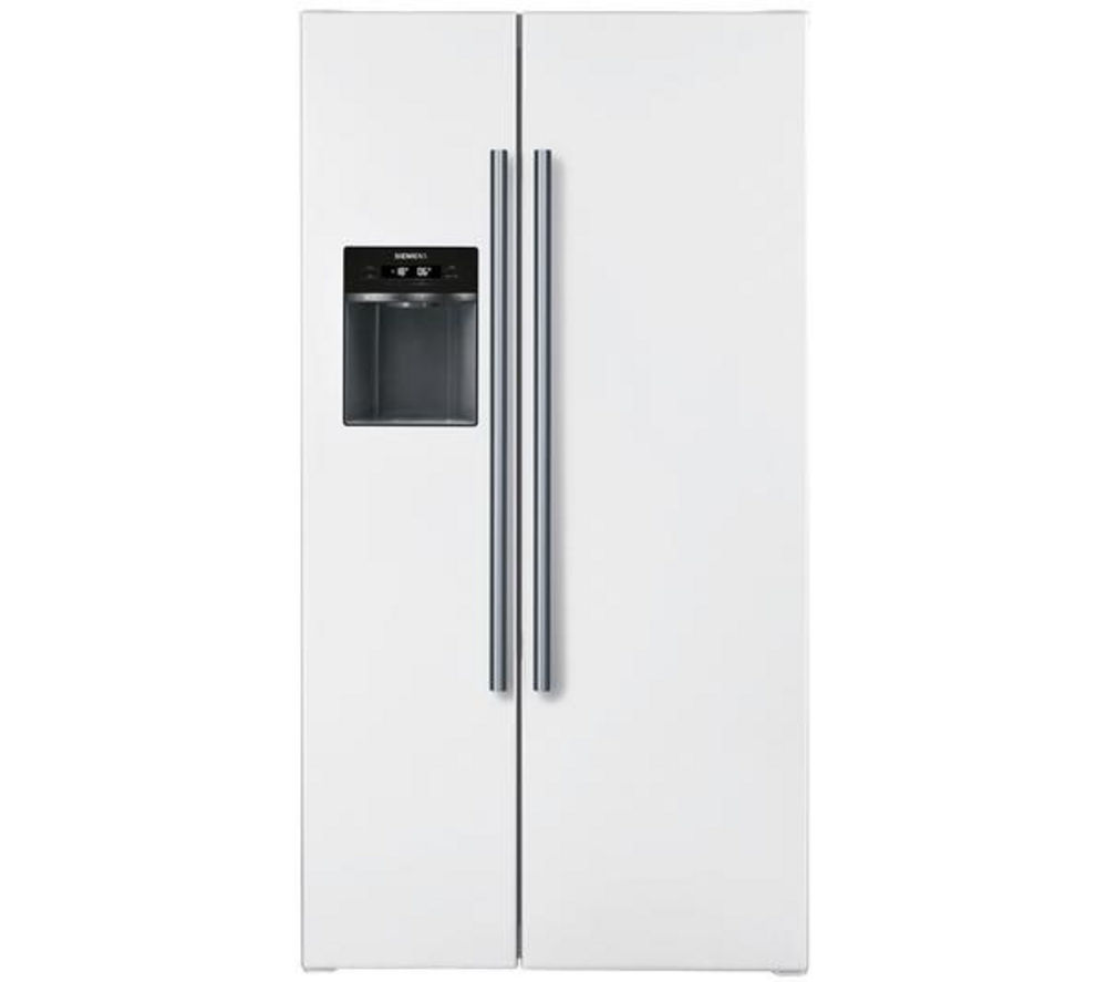 SIEMENS iQ300 KA62DV00GB American-Style Fridge Freezer - White