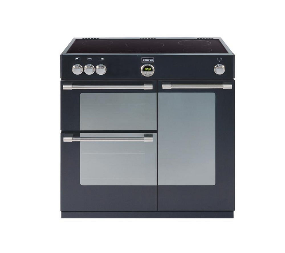 STOVES  Sterling 900Ei Electric Induction Range Cooker  Black Black