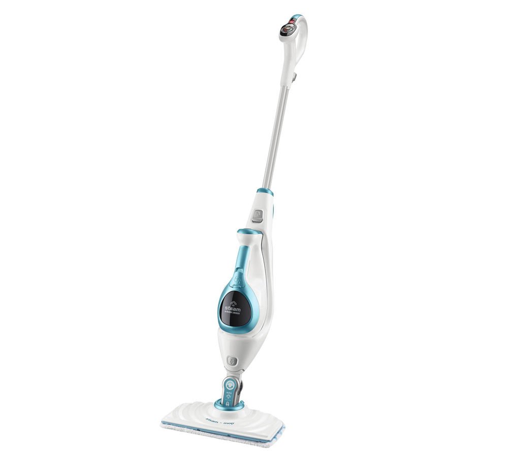buy black decker fsmh1621 steam mop deluxe with steambuster white blue free delivery. Black Bedroom Furniture Sets. Home Design Ideas