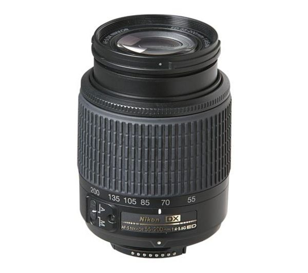 NIKON  AF-S DX Zoom-NIKKOR 55-200 mm f/4-5.6G SWM ED Telephoto Zoom Lens +  DSLR Cleaning Kit