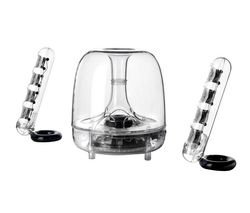 HARMAN KARDON SoundSticks III 2.1 PC Speakers - Clear