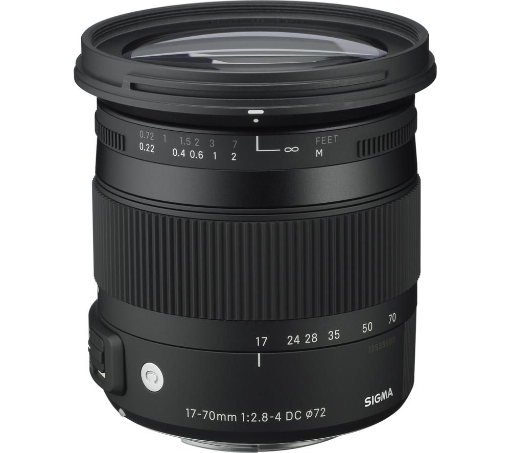 SIGMA 17-70 mm f/2.8-4 DC HSM OS Wide-angle Zoom Lens with Macro - for Nikon