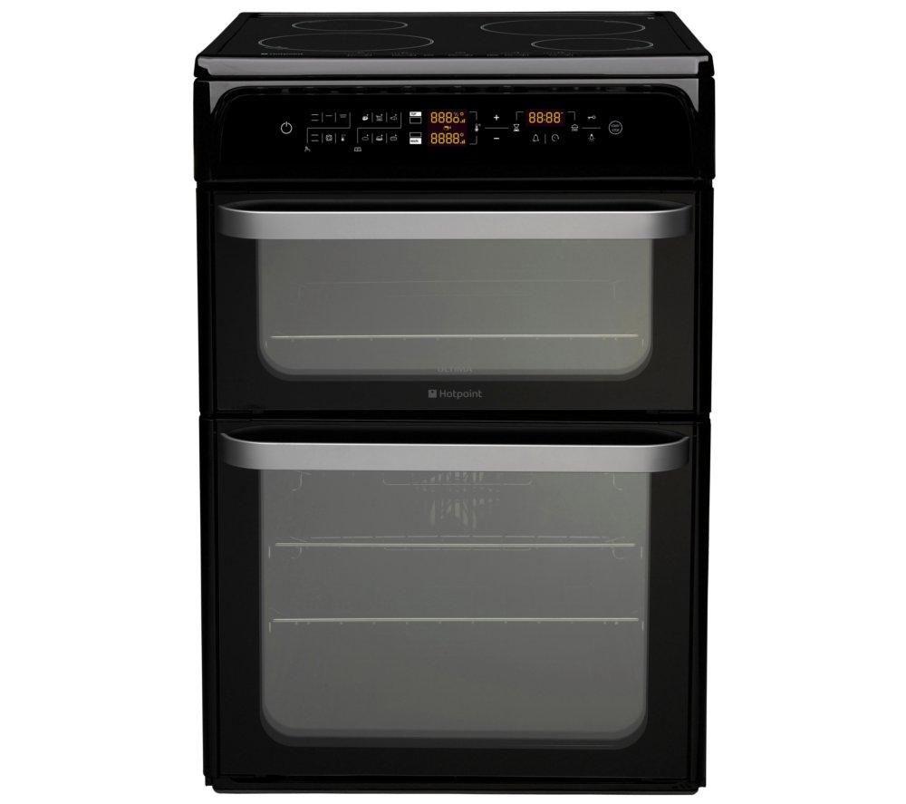 hotpoint hui62tk electric induction cooker black. Black Bedroom Furniture Sets. Home Design Ideas