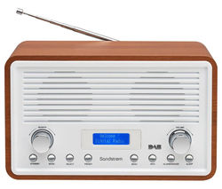 Sandstrom SDR15 DAB+ FM Clock Radio - Walnut & White