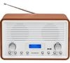 SANDSTROM SDR15 DAB+/FM Clock Radio - Walnut & White