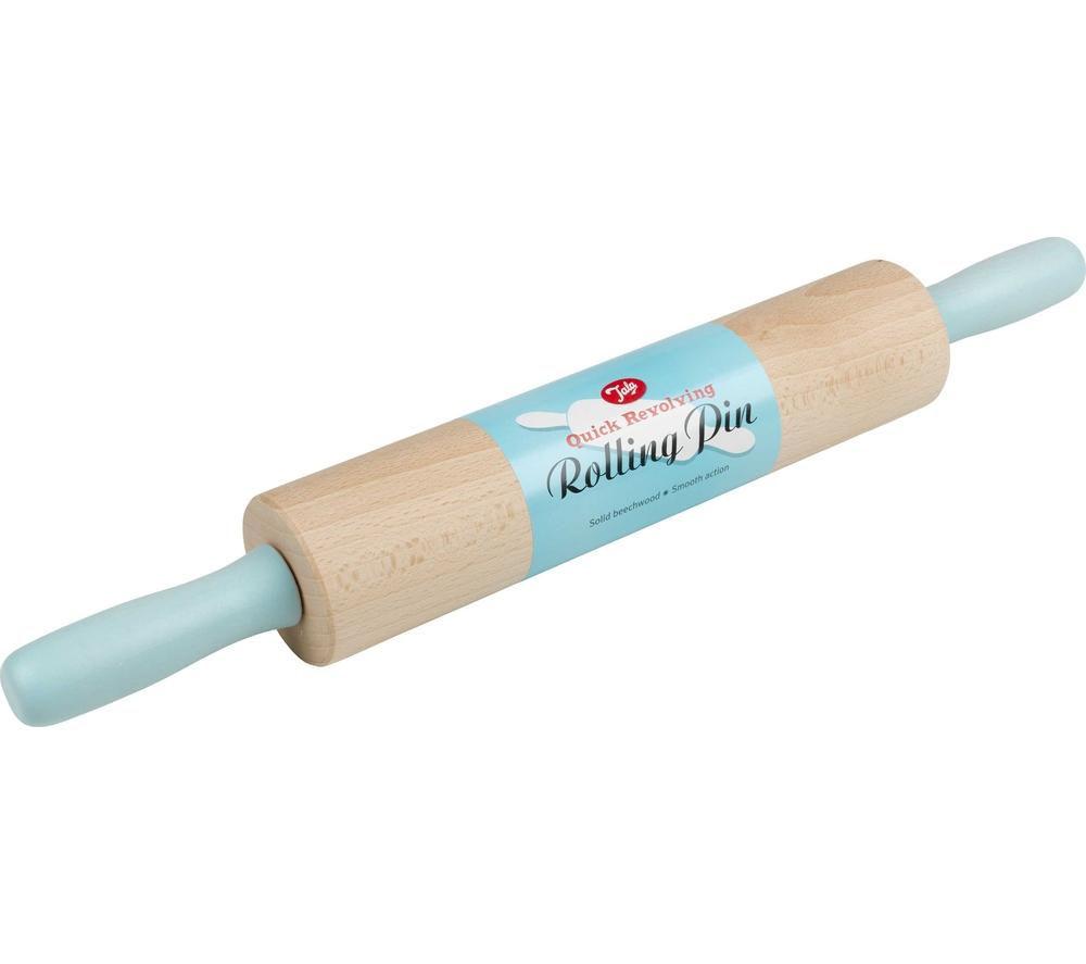 TALA Revolving Rolling Pin - Blue & Natural Wood