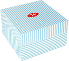 "TALA Originals 10"" Cake Box - Blue Candy Stripe"