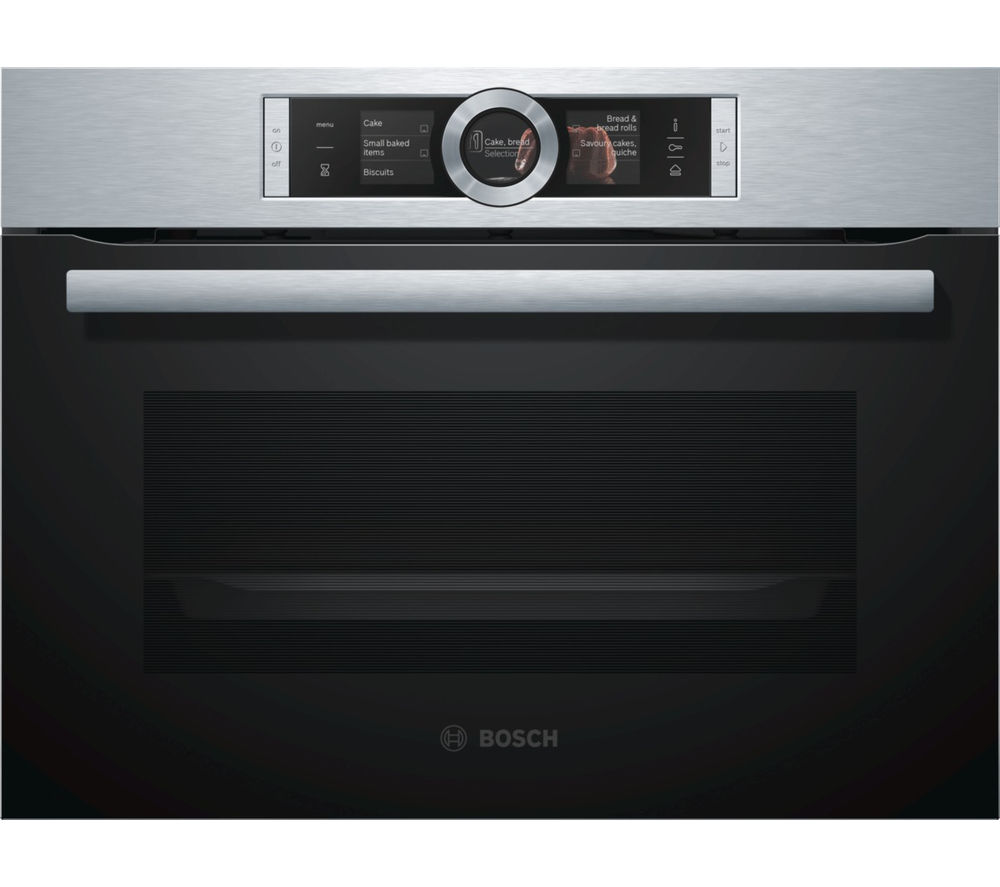 Image of Bosch CSG656BS1B Compact Electric Steam Oven - Stainless Steel, Stainless Steel