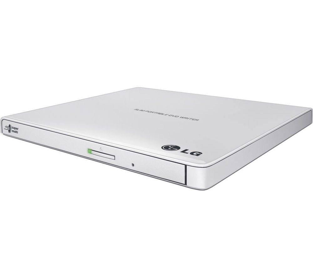 LG  GP57EB40 Ultraslim External USB DVD Writer - White, White