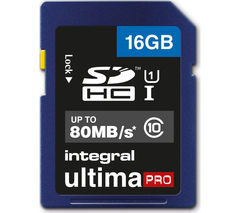 INTEGRAL UltimaPro Class 10 SDHC Memory Card - 16 GB