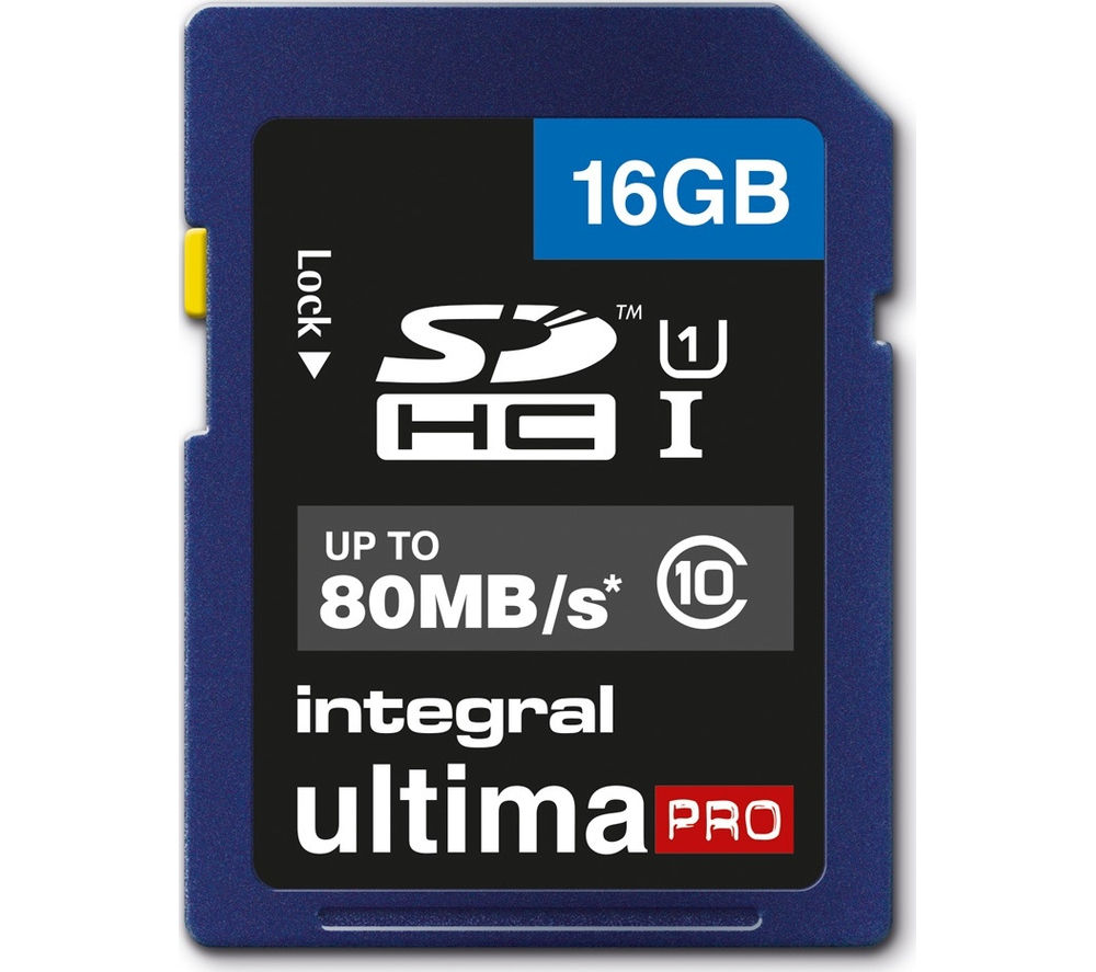 INTEGRAL  UltimaPro Class 10 SDHC Memory Card - 16 GB.