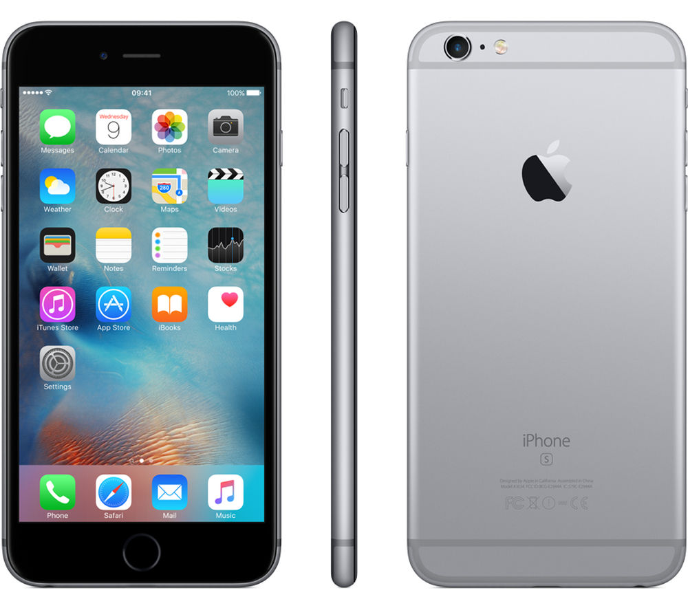 buy apple iphone 6s plus 16 gb space grey free delivery currys. Black Bedroom Furniture Sets. Home Design Ideas