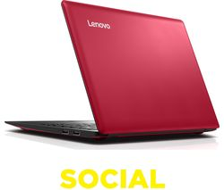 "LENOVO IdeaPad 100S 11.6"" Laptop - Red"