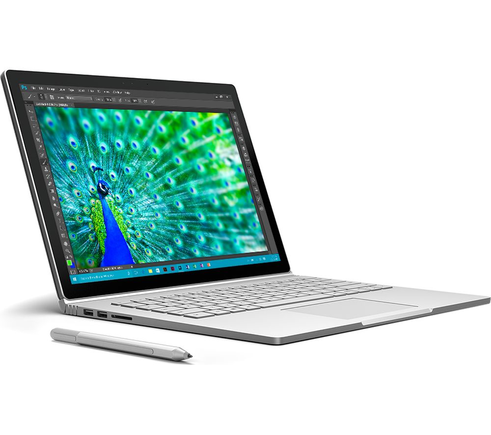 MICROSOFT Surface Book - Silver + Office 365 Home + LiveSafe Unlimited 2017 - 1 year